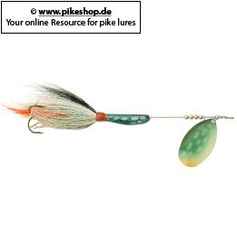 Farbe: SB Northern Pike Blade - Green / White Tail