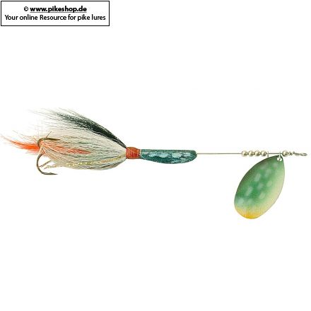SB Northern Pike Blade - Green / White Tail