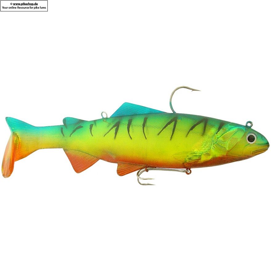 Bass Harasser (very slow fall) - 25cm (10 Zoll) - RS Chartreuse Yellow Firetiger