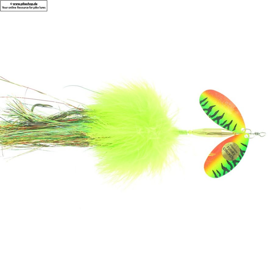 Funky Chicken - 20cm (8 Zoll) - SW FC-24 Chartreuse / Firetiger Crystallina