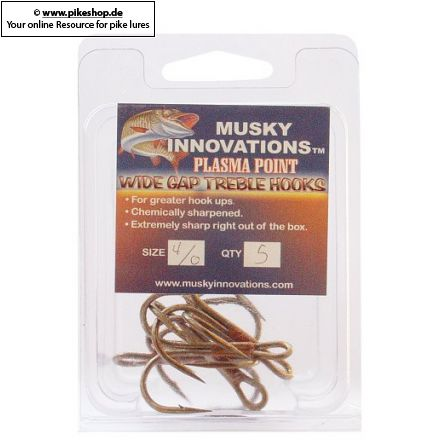 Musky Innovations - Plasma Point Drillinge (5er Pack)