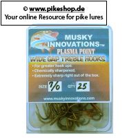 Musky Innovations - Plasma Point Drillinge (25er Pack)