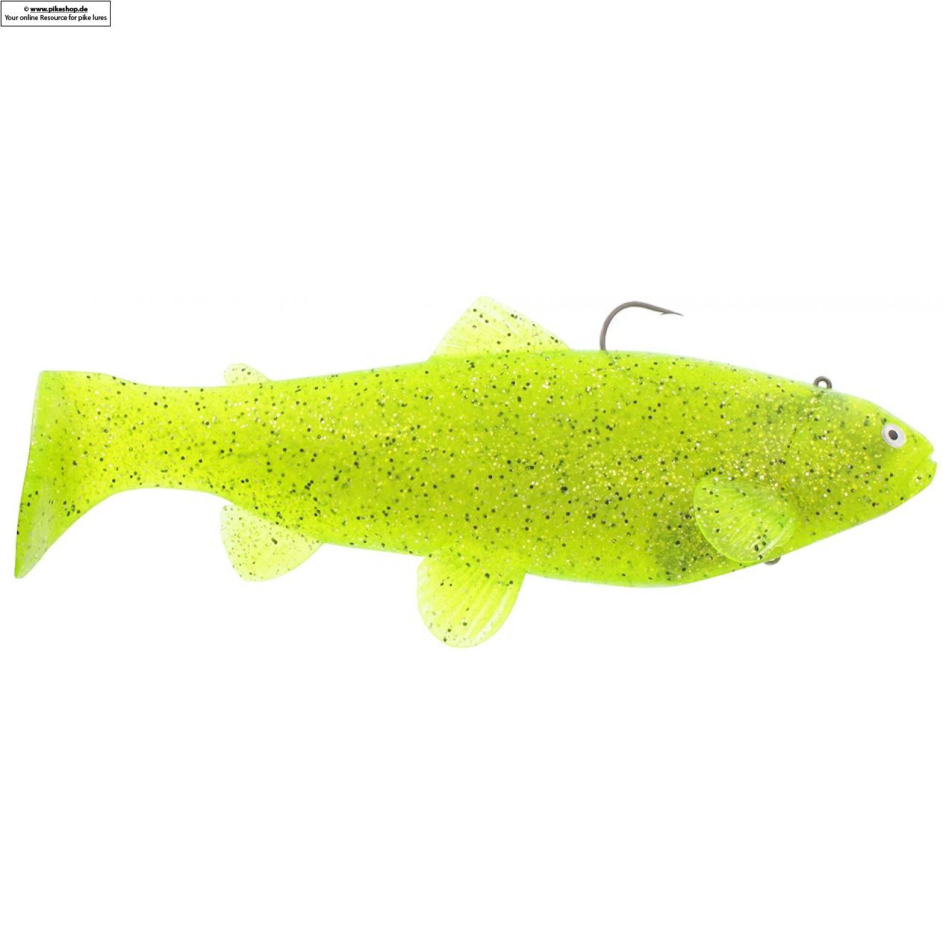 Boot Tail (Sinker) - 25cm (10 Zoll) - CA Chartreuse Pepper