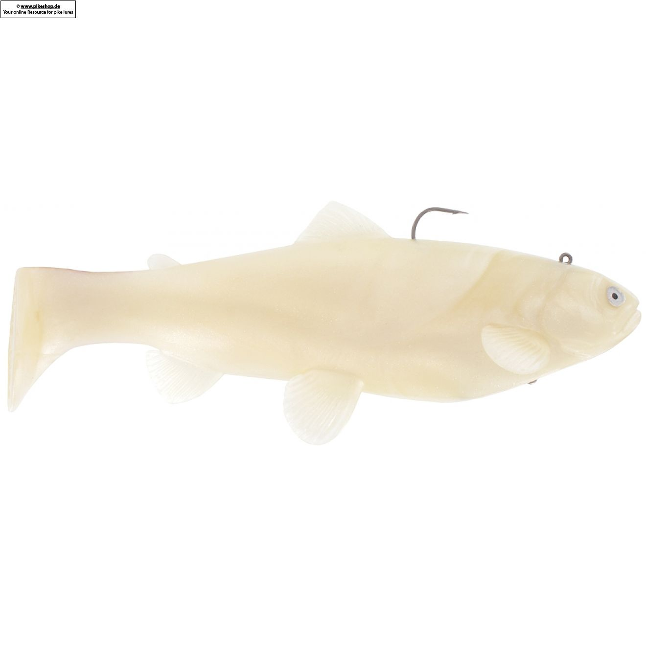Boot Tail (Sinker) - 25cm (10 Zoll) - CA Pearl White