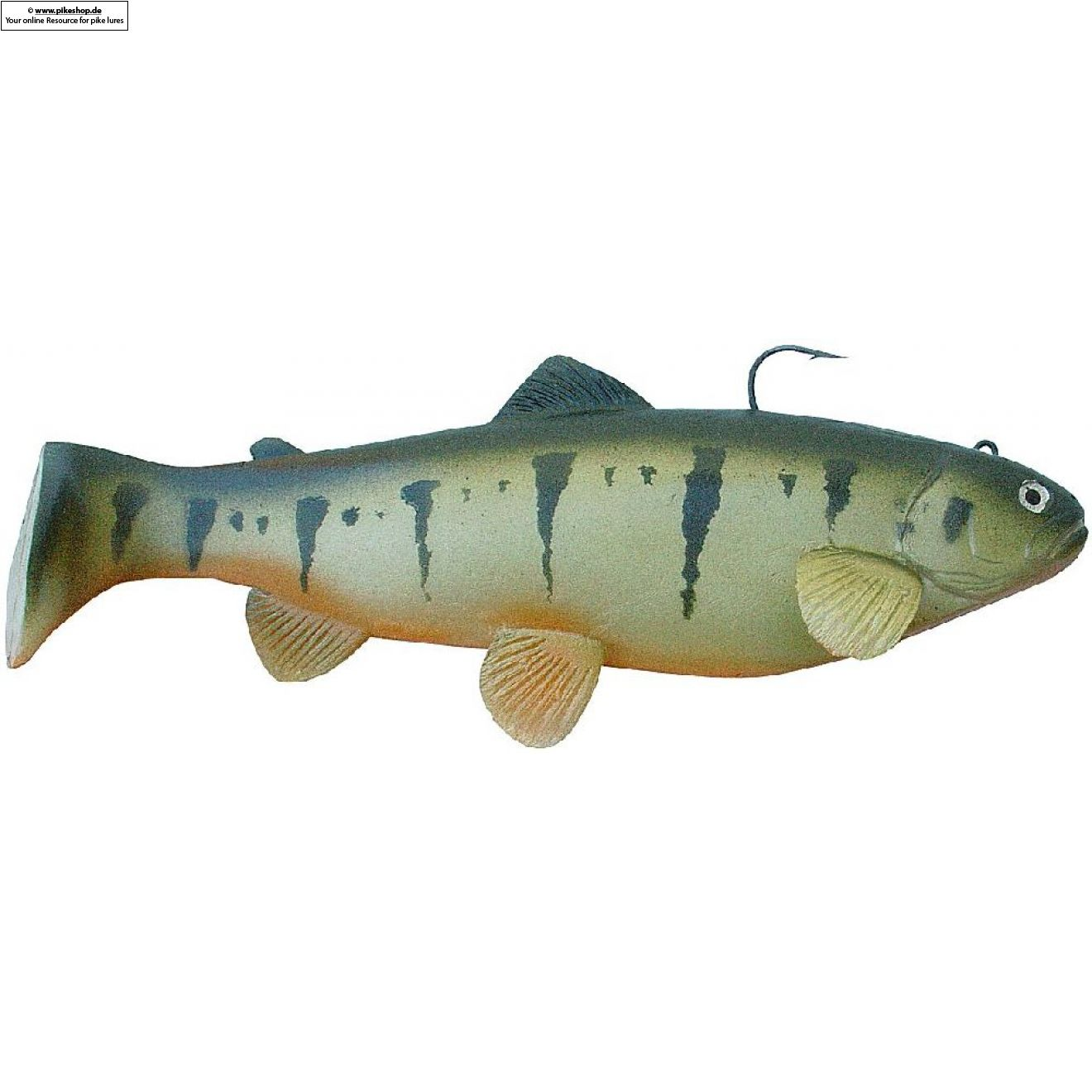 Boot Tail (Slow Sinker) - 25cm (10 Zoll) - CA Yellow Perch
