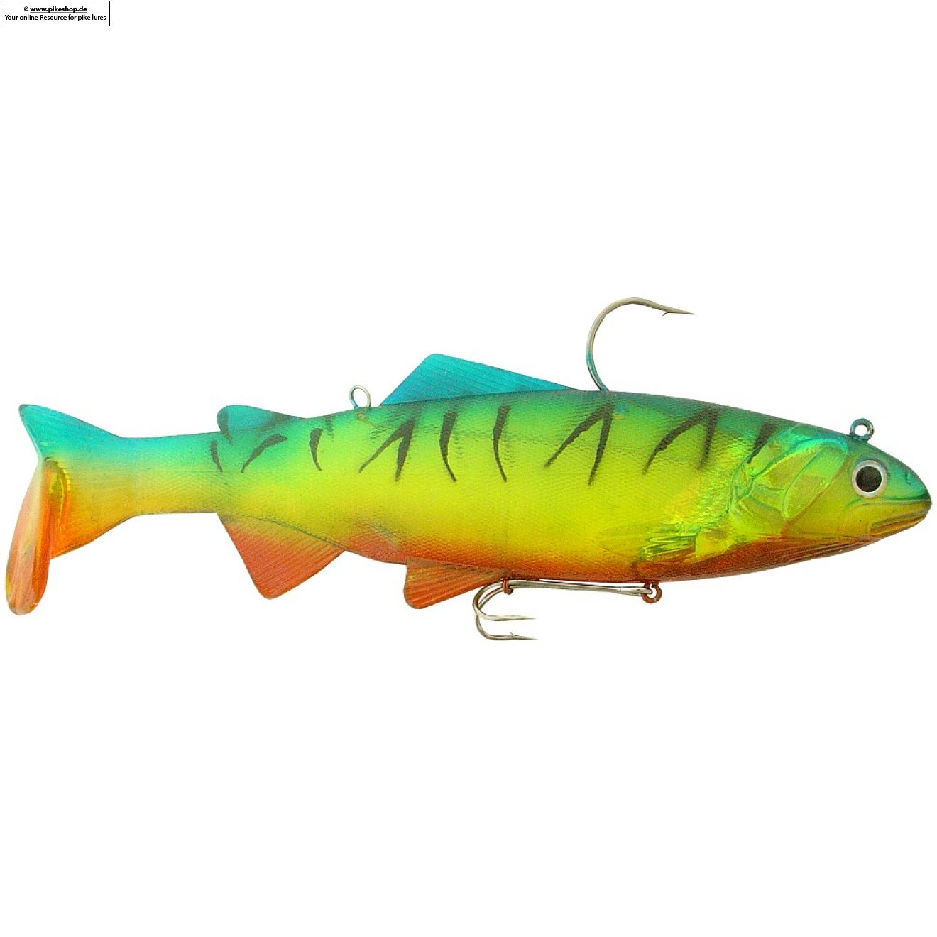 Bass Harasser (medium fall) - 25cm (10 Zoll) - RS Chartreuse Yellow Firetiger